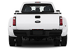 Straight rear view of a 2013 Ford F-450 XLT Super Duty Crew Cab Truck