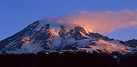 Mt. Rainier with low cloud at sunrise