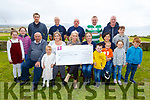 The Ballyheigue Golf Classic fundraiser which raised over E8000 at the cheque presentation for Bru Columbanus at the Ballyheigue Golf Club on Sunday.. <br />  . <br /> Seated l-r, Tim Kenny (Ballyheigue Golf Club Manager), Lily and Emma Bowler, AnnMaria O&rsquo;Connor (Bru Columbanus), Patricia Lucid, Lee O&rsquo;Rourke, Debbie and Noah Dineen.<br /> Back l-r, Grace O&rsquo;Rourke and Katie Bowler, Declan and Jimmy Bowler, John White, James O&rsquo;Rourke, Bernard and Alfie Dineen, Jack and Grace O&rsquo;Rourke.