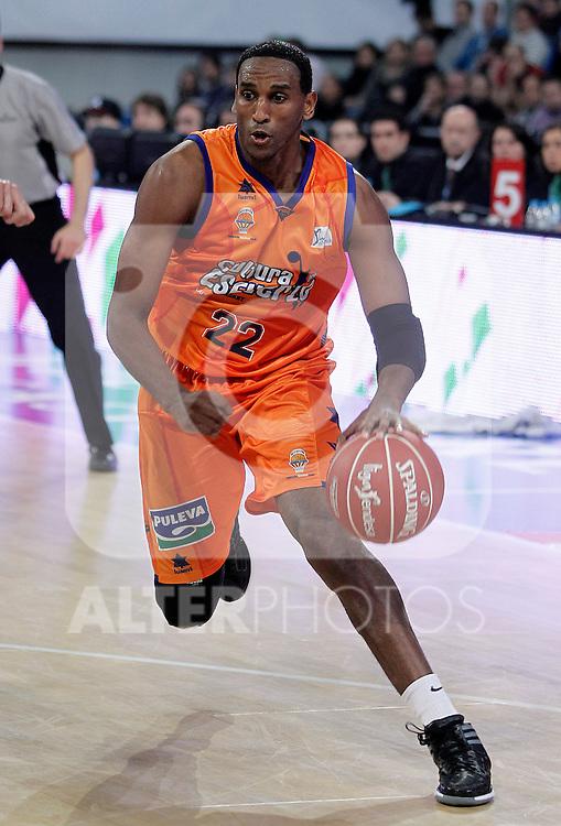 Valencia Basket Club's Thomas Kelati during Spanish Basketball King's Cup semifinal match.February 07,2013. (ALTERPHOTOS/Acero)