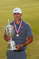 Brooks Koepka (USA) poses with the trophy after winning the 118th U.S. Open Championship at Shinnecock Hills Golf Club in Southampton, NY, USA. 17th June 2018.<br /> Picture: Golffile | Brian Spurlock<br /> <br /> <br /> All photo usage must carry mandatory copyright credit (&copy; Golffile | Brian Spurlock)