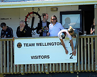 The scoreboard is changed the ISPS Handa Premiership football Charity Cup match between Team Wellington and Auckland City FC at David Farrington Park in Wellington, New Zealand on Sunday, 15 October 2017. Photo: Dave Lintott / lintottphoto.co.nz
