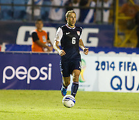 Steve Cherundolo dribbles the ball as the United States played Guatemala at Estadio Mateo Flores in Guatemala City, Guatemala in a World Cup Qualifier on Tue. June 12, 2012.