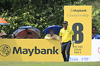 Thongchai Jaidee (THA) in action on the 8th tee during Round 2 of the Maybank Championship at the Saujana Golf and Country Club in Kuala Lumpur on Friday 2nd February 2018.<br /> Picture:  Thos Caffrey / www.golffile.ie<br /> <br /> All photo usage must carry mandatory copyright credit (&copy; Golffile | Thos Caffrey)