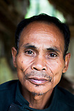 PHILIPPINES, Palawan, Barangay region, portrait of Batak Chief in his home in Kalakwasan Village