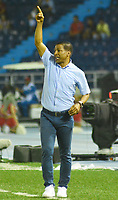 BARRANQUILLA - COLOMBIA ,08-06-2019: Alexis Garcia Director técnico del Deportivo Pasto ante el Atletico Junior durante el primer partido de la final de la Liga Águila I 2019 jugado en el estadio Metropolitano Roberto Meléndez de la ciudad de Barranquilla . /Alexis Garcia coach of Deportivo Pasto during match agaisnt of Atletico Junior match the first game of the Liga Águila I 2019 final played at the Metropolitan Stadium Roberto Meléndez of the city of Barranquilla . Photo: VizzorImage / Alfonso Cervantes / Contribuidor.