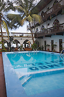 "Afrique/Afrique de l'Est/Tanzanie/Zanzibar/Ile Unguja/Stone Town: l'Hotel ""Tembo House Hotel"" - Piscine de l'hotel"