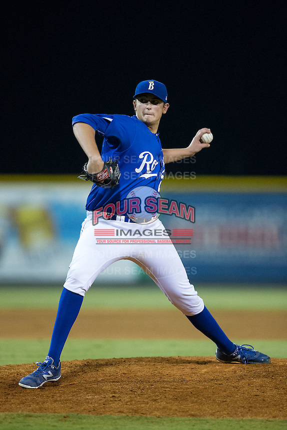 Burlington Royals pitcher Joseph Markus (27) in action against the Greeneville Astros at Burlington Athletic Park on August 29, 2015 in Burlington, North Carolina.  The Royals defeated the Astros 3-1. (Brian Westerholt/Four Seam Images)