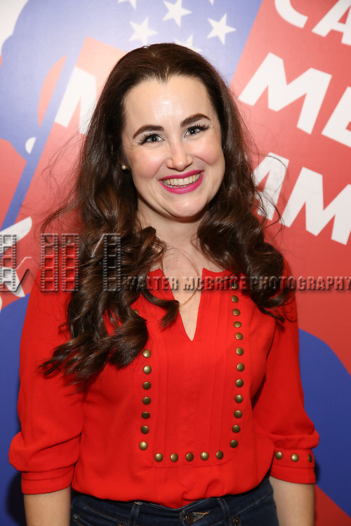 """Lauren Worsham attends the closing Night performance reception for Encores! """"Call Me Madam"""" at City Center on February 10, 2019 in New York City."""