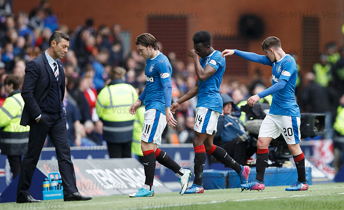 Rangers dejection at half-time