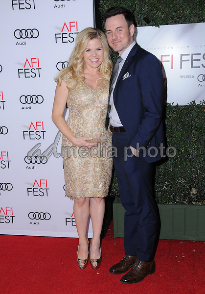 """10 November 2016 - Hollywood, California. Megan Hilty, Brian Gallagher. AFI FEST 2016 - Opening Night Premiere Of """"Rules Don't Apply"""" held at TCL Chinese Theater. Photo Credit: Birdie Thompson/AdMedia"""