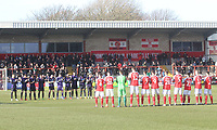 The teams line up to applaud Gordon Banks<br /> <br /> Photographer Mick Walker/CameraSport<br /> <br /> The EFL Sky Bet League One - Fleetwood Town v Luton Town - Saturday 16th February 2019 - Highbury Stadium - Fleetwood<br /> <br /> World Copyright © 2019 CameraSport. All rights reserved. 43 Linden Ave. Countesthorpe. Leicester. England. LE8 5PG - Tel: +44 (0) 116 277 4147 - admin@camerasport.com - www.camerasport.com