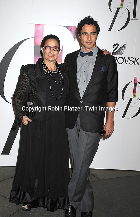 Susan Posen and son Zac Posen.posing for photographers at The 2008 CFDA Fashion Awards on June 2, 2008 at The New York Public Library in .New York City. ..Robin Platzer, Twin Images