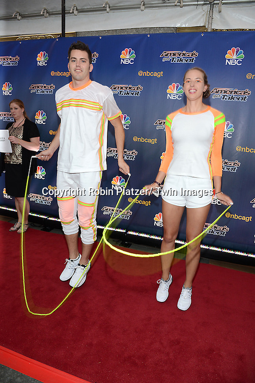 """Flight Crew Jump Rope attends the kick off  of Season 9's live voting rounds of """"America's Got Talent""""  at Radio City Music Hall on July 29, 2014 in New York City."""