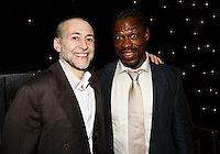 Photo: Richard Lane/Richard Lane Photography. .Serge Betsen Testimonial Dinner at the Hilton on Park Lane. 25/02/2011. Chef, Michel Roux and Serge Betsen.