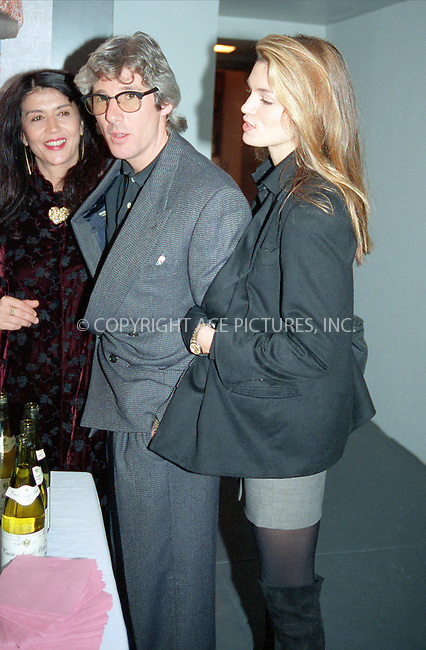 WWW.ACEPIXS.COM *** NO U.K. NEWSPAPERS SALES ***....NEW YORK, CIRCA 1995: RICHARD GERE, CINDY CRAWFORD....Please byline: R. BOCKLET-ACE PICTURES.   ..  ***  ..Ace Pictures, Inc:  ..contact: Alecsey Boldeskul (646) 267-6913 ..Philip Vaughan (646) 769-0430..e-mail: info@acepixs.com
