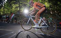 2013 Giro d'Italia.stage 10..Samuel Sanchez (ESP) climbing at 20% gradient.