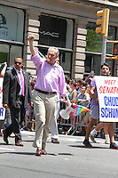 NEW YORK, NY - JUNE 26: Senator Chuck Schumer marches in the 2016 NYC Gay Pride Parade  in New York, New York on June 26, 2016.  Photo Credit: Rainmaker Photo/MediaPunch