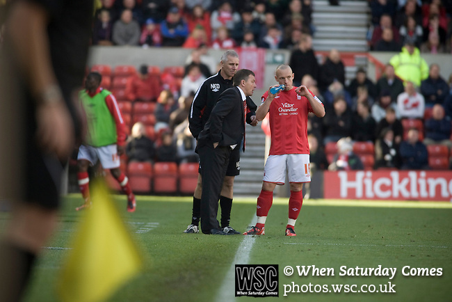 Manager Billy Davies and his assistant David Kelly issuing instructions to one of his players during the second half at the City Ground, Nottingham as Nottingham Forest take on visitors Ipswich Town in an Npower Championship match. Forest won the match by two goals to nil in front of 22,935 spectators.