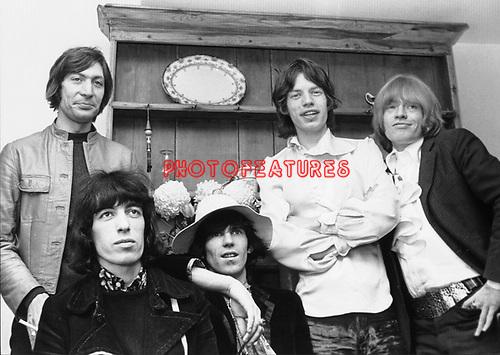 Rolling Stones 1968 Charlie Watts, Bill Wyman, Keith Richards, Mick Jagger and Brian Jones