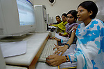 Students at St Peter?s School in Lahore work in the computer lab. The school is run by the Church of Pakistan..