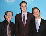 Tim Kazurinsky, Jim Parsons and Christopher Fitzgerald attends the Broadway Opening Night after party for 'An Act of God'  at Studio 54 on May 28, 2015 in New York City.