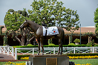 """ARCADIA, CA  JUNE 23: Even Seabiscuit paid homage to the newest Triple Crown winner on  """"Justify Day"""" on June 23, 2018 at Santa Anita Park in Arcadia, CA.  (Photo by Casey Phillips/Eclipse Sportswire/Getty Images)"""