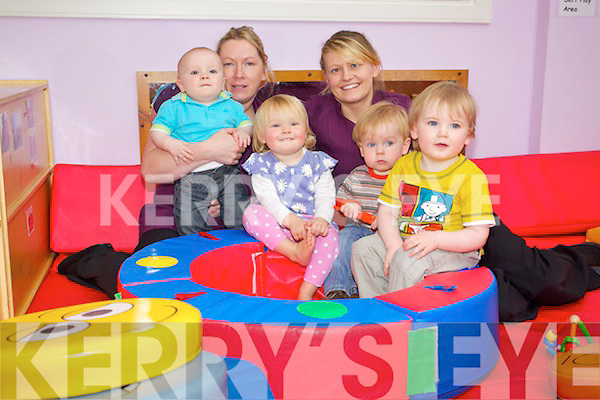Pictured at the Oakview Childcare Creche on Monday were minders  Mary Quinn and Tracey Donovan in the toddlers room..