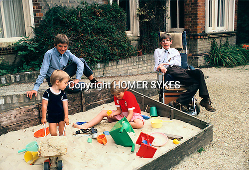 stephen hawking 1981 cambridge england homer sykes. Black Bedroom Furniture Sets. Home Design Ideas