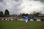 Wealdstone 0 Newport County 0, 17/03/2012. St Georges Stadium, FA Trophy Semi Final. Home player Lee Chappell taking a long throw at St Georges Stadium, home ground of Wealdstone FC, as the club played host to Newport County (yellow) in the semi-final second leg of the F.A. Trophy. The game ended in a goalless draw, watched by a capacity crowd of 2,092 which meant the visitors from Wales progressed by three goals to one to the competition's final at Wembley, where they would meet York City. The F.A. Trophy was the premier cup competition for non-League clubs in England and Wales affiliated to the Football Association. Photo by Colin McPherson.