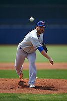 Midland RockHounds pitcher Nate Long (46) delivers a pitch during a game against the Tulsa Drillers on June 3, 2015 at Oneok Field in Tulsa, Oklahoma.  Midland defeated Tulsa 5-3.  (Mike Janes/Four Seam Images)