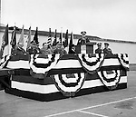 Pittsburgh PA:  US Army General Robert Wood and base personnel conducting a press conference announcing the new Command and Control Center status of the Oakdale NIKE site - 1963.  The Oakdale site became the command and control center for all the regional NIKE sites after the enhanced radar systems were installed.  <br /> Brady Stewart Jr. was authorized to photograph the press conference and tour the new command center due to being a US Army staff photographer during WWII.