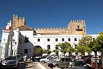 Castle and Ayuntiamiento, Plaza del Cabildo, village of Arcos de la Frontera, Cadiz province, Spain