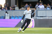 San Jose, CA - Wednesday May 17, 2017: David Bingham prior to a Major League Soccer (MLS) match between the San Jose Earthquakes and Orlando City SC at Avaya Stadium.
