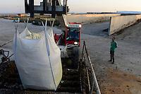TURKEY Bandirma, Edincik biogas plant of company Telko where chicken dung from surrounded chicken farms is fermented to gas which is used for generation of electric power, biogas plant was installed by german company Bioconstruct / TUERKEI Bandirma, Edincik Biogasanlage der Firma Telko, hier wird Huehnermist von umliegenden Huehnereier Legebatterien zu Biogas und Strom, die Anlage wurde von der deutschen Firma BioConstruct errichtet, taegliche Zufuhr mit 5 t Eisensulfat auf eine Substratmenge von 250 t zur Reduzierung des Schwefelgehalts