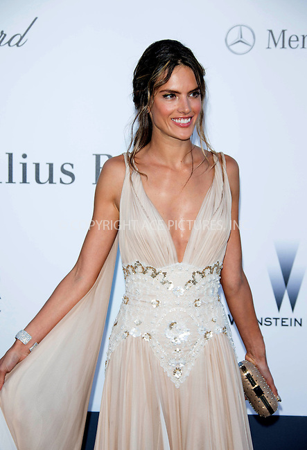 WWW.ACEPIXS.COM....US Sales Only....May 23 2013, New York City....Alessandra Ambrosio at amfAR's Cinema Against AIDS Gala at the Hotel du Cap Eden Roc during the Cannes Film Festival on May 23 2013 in France....By Line: Famous/ACE Pictures......ACE Pictures, Inc...tel: 646 769 0430..Email: info@acepixs.com..www.acepixs.com