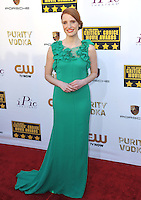 Jessica Chastain at the 19th Annual Critics' Choice Awards at The Barker Hangar, Santa Monica Airport.<br /> January 16, 2014  Santa Monica, CA<br /> Picture: Paul Smith / Featureflash