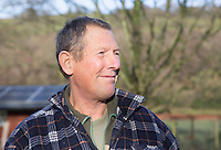 Saturday 10 January 2015<br /> Pictured: Mr Nigel Cann, fallen tree owner<br /> RE: Severe gales across Wales break in half a 100 year old beech tree from a garden falling across Penllwyn Lane in Graig-Y-Rhacca, Caerphilly, road closed.
