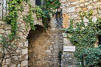 Medieval architecture, Eza, Cote d'Azur, France