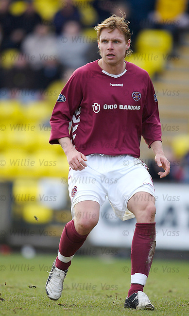 Edgaras Jankauskas, Hearts.stock season 2005-2006.pic willie vass