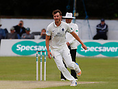 June 12th 2017, Trafalgar Road Ground, Southport, England; Specsavers County Championship Division One Day Four; Lancashire versus Middlesex; ;Toby Roland-Jones bowls during the second Lancashire innings; Middlesex were all out this morning and set Lancashire a target of 108 to win the match