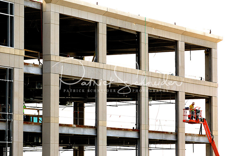 Construction in the Ballantyne Corporate Park in Charlotte, NC. Ballantyne, a suburb of Charlotte NC, is located near the South Carolina border. The 2,000-acre mixed-use development was created by land developer Howard C. Smokey Bissell.