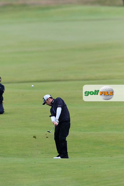 Louis Oosthuizen (RSA) plays his 2nd shot into the 18th green during Monday's Final Round of the 144th Open Championship, St Andrews Old Course, St Andrews, Fife, Scotland. 20/07/2015.<br /> Picture Eoin Clarke, www.golffile.ie
