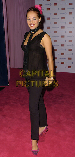 SARA CAWOOD.Attends A Touch Of Pink Party,.madame tussards, London.England, October 5th 2006..full length black sarah .Ref: CAN.www.capitalpictures.com.sales@capitalpictures.com.©Can Nguyen/Capital Pictures