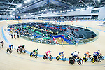 Riders compete in the Men's Madison 50 km Final during the 2017 UCI Track Cycling World Championships on 16 April 2017, in Hong Kong Velodrome, Hong Kong, China. Photo by Chris Wong / Power Sport Images