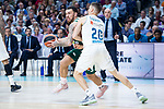 Real Madrid Jaycee Carroll and Panathinaikos Mike James during Turkish Airlines Euroleague Quarter Finals 4th match between Real Madrid and Panathinaikos at Wizink Center in Madrid, Spain. April 27, 2018. (ALTERPHOTOS/Borja B.Hojas)
