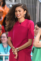NEW YORK, NY - OCTOBER 11:  Zendaya on NBC's Today promoting and celebrating International Day of the Girl in New York City on October 11, 2018. Credit: John Palmer/MediaPunch