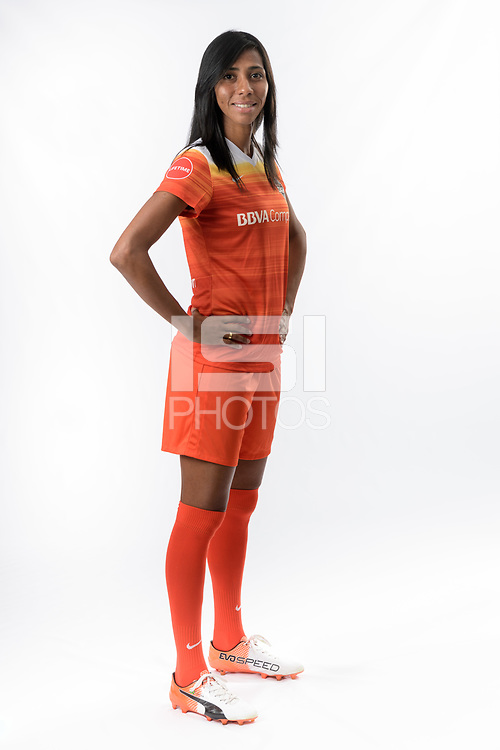 Houston, TX - Thursday March 24, 2017: Houston Dash Media Day Photos at BBVA Compass Stadium.