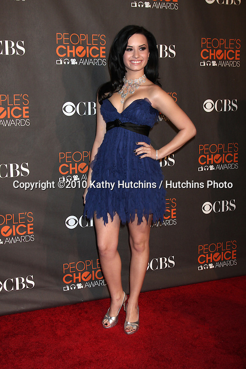 Demi Lovato.arriving  at the 2010 People's Choice Awards.Nokia Theater.January 6, 2010.©2010 Kathy Hutchins / Hutchins Photo.