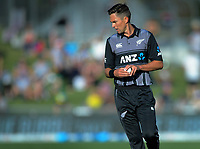 New Zealand's Trent Boult during the 4th Twenty20 International cricket match between NZ Black Caps and England at McLean Park in Napier, New Zealand on Friday, 8 November 2019. Photo: Dave Lintott / lintottphoto.co.nz